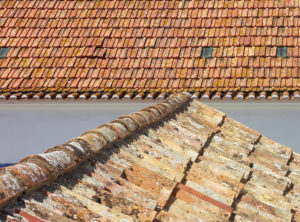 Ridge picture on a traditional roof