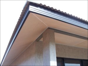 a picture of a corner of roof section