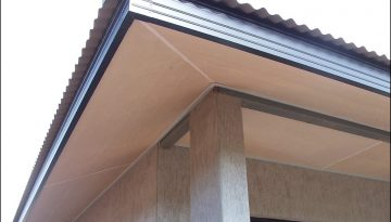 picture of a soffitt and fascia of a modern roof in Birmingham
